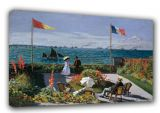 Monet, Claude: The Terrace at Sainte-Adresse. Fine Art Canvas. Sizes: A3/A2/A1 (003222)
